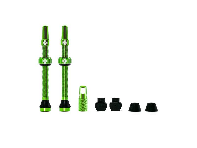 MUC-OFF Tubeless Valve Kit 80 mm Green