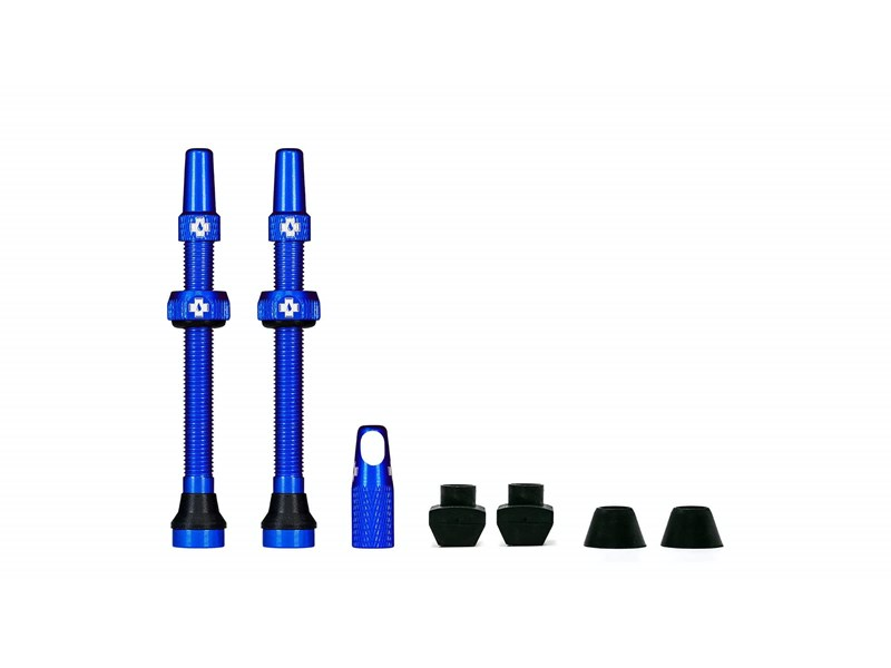 MUC-OFF Tubeless Valve Kit 80 mm Blue