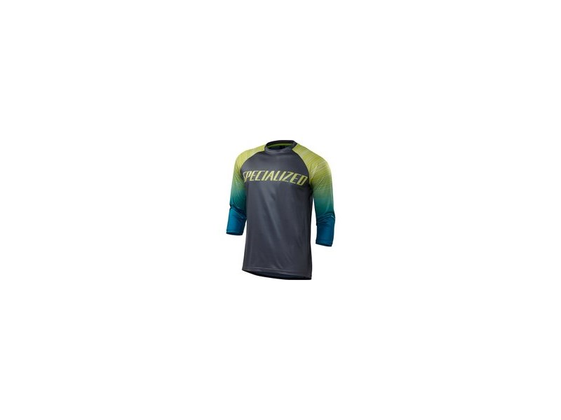ENDURO COMP 3/4 JERSEY BLKTEAL FADE M