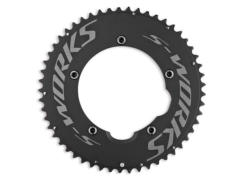SW TEAM TT CHAINRING SET BLK ANO 130X54/42T