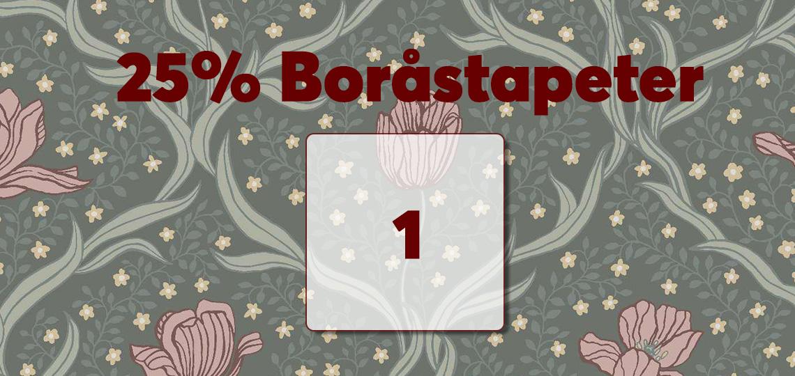 25% Boråstapeter