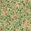 Morris & Co Honeysuckle Tapet Green/Coral Pink