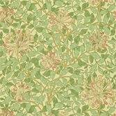 Morris & Co Honeysuckle Green/Beige/Pink