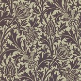 Morris & Co Thistle Mulberry/Linen