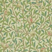 Morris & Co Bird and Pomegranate Bayleaf/Cream