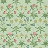 Morris & Co Daisy Pale Green/Rose