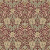 Morris & Co Honeysuckle & Tulip Red/Gold
