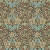 Morris & Co Honeysuckle & Tulip Taupe/Aqua