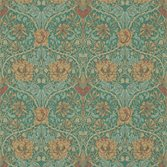 Morris & Co Honeysuckle & Tulip Emerald/Russet