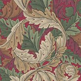 Morris & Co Acanthus Madder/Thyme