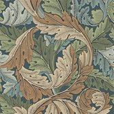Morris & Co Acanthus Slate Blue/Thyme