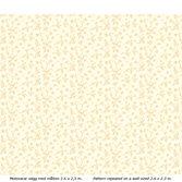 Lim & Handtryck Fågelblå - Vit/gul