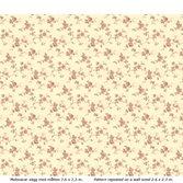 Lim & Handtryck Rosen - Gul/rödbrun
