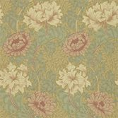 Morris & Co Chrysanthemum Pink/Yellow/Green