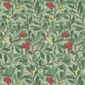 Morris & Co Arbutus Dark Green/Red