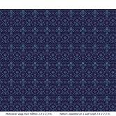 Lim & Handtryck Florian - Mörkblå/Blå