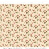 Lim & Handtryck Belle epoque - Rosa/Röda