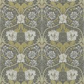 Morris & Co Honeysuckle & Tulip - Charcoal Gold
