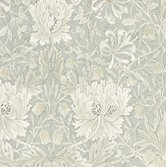 Morris & Co Pure Honeysuckle & Tulip Grey Blue