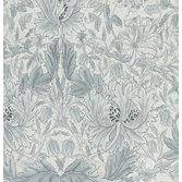 Morris & Co Pure Honeysuckle & Tulip Cloud Grey