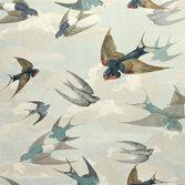 John Derian Chimney Swallows - Sky Blue