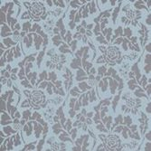 Osborne & Little British Isles Damask - Aqua/Gilver