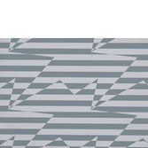 Kirkby Design Stripey Zig Zag Birds Steel