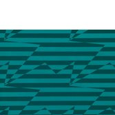Kirkby Design Stripey Zig Zag Birds Teal