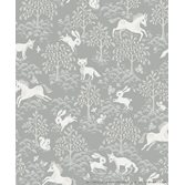Littlephant Fairytale fox - Dusty mid blue tapet