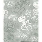 Littlephant Aquatic - Dusty aqua tapet