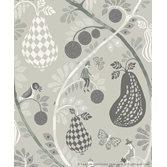 Littlephant Fruit Garden - Mid grey tapet