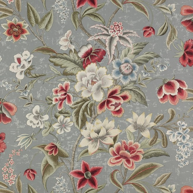 Colefax and Fowler Celestine - Red/Slate