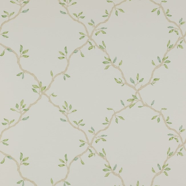 Colefax and Fowler LEAF TRELLIS IVORY/GREEN