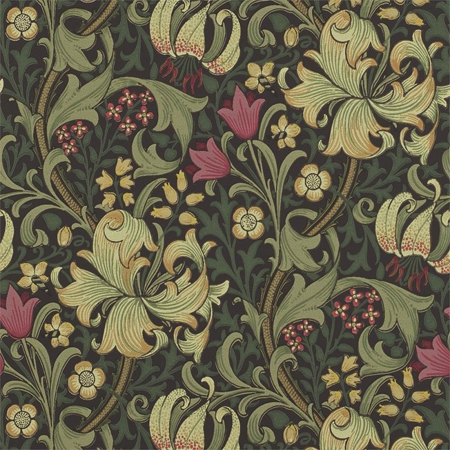 Morris & Co Golden Lily Charcoal/Olive