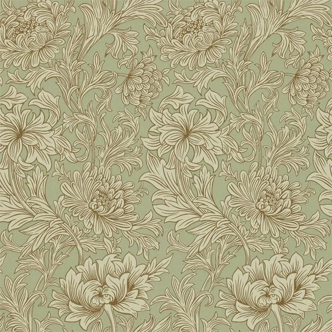 Morris & Co Chrysanthemum Toile Eggshell/Gold
