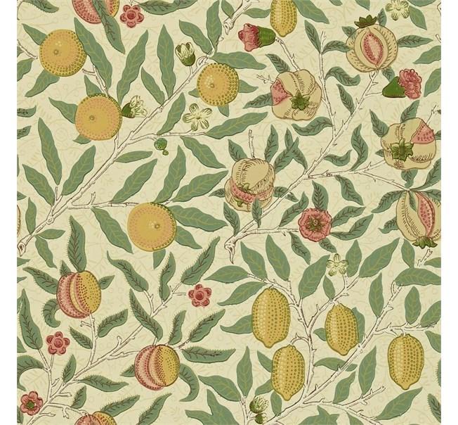 Morris & Co Fruit Beige/Gold/Coral