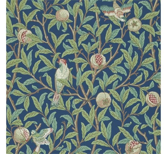 Morris & Co Bird and Pomegranate Blue/Sage