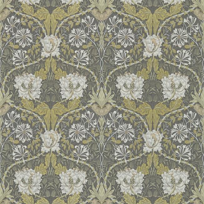 Morris & Co Honeysuckle & Tulip Charcoal/Gold