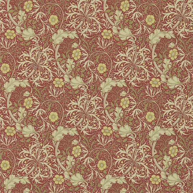 Morris & Co Morris Seaweed Red/Gold