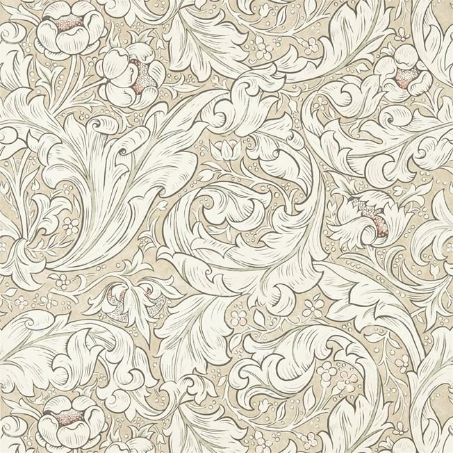Morris & Co Pure Bachelors Button Linen/Coral