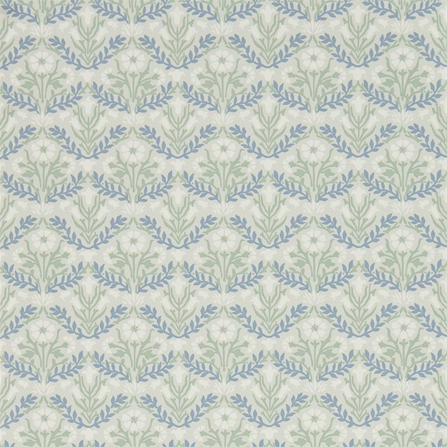 Morris & Co Morris Bellflowers Grey/Fennel