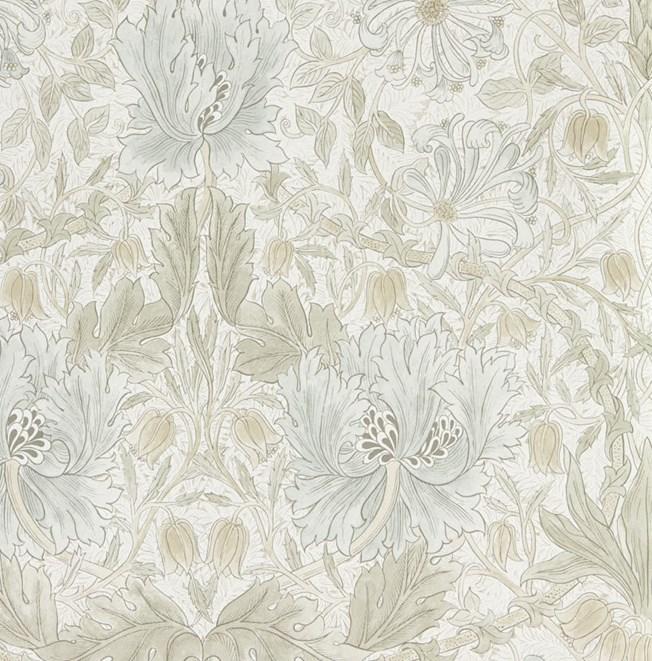 Morris & Co Pure Honeysuckle & Tulip Linen