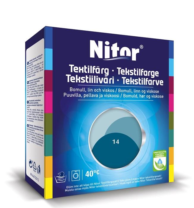 Nitor Textilfärg Petrol 14