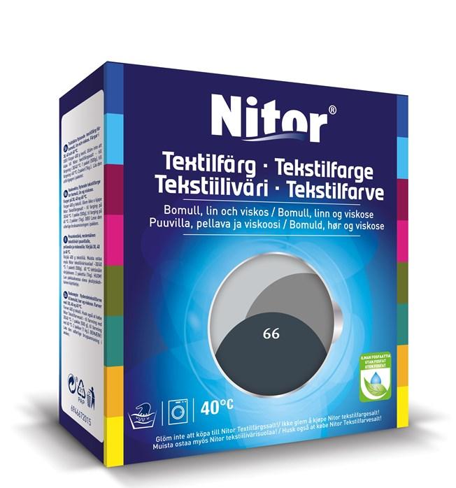 Nitor Textilfärg Antracit 66