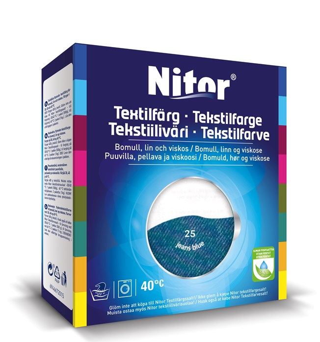 Nitor Textilfärg Allmogeblå 25