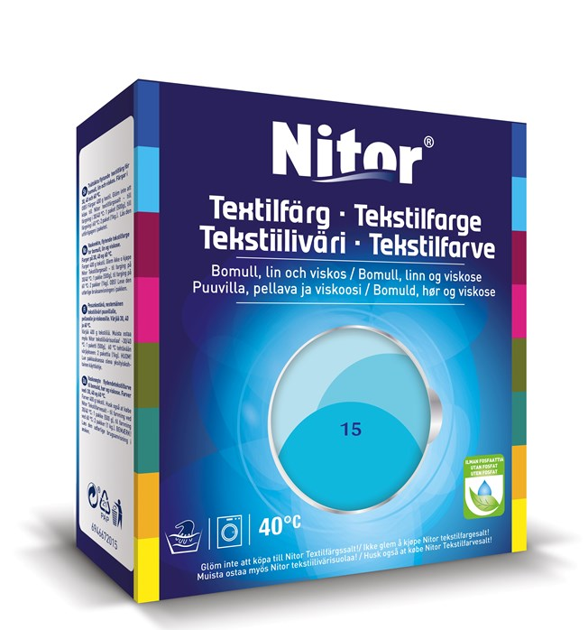Nitor Textilfärg Turkos 15