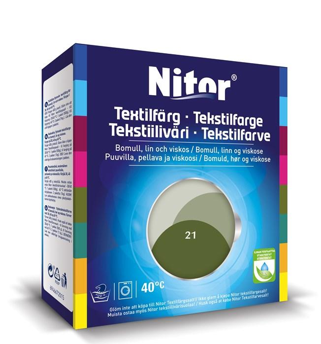 Nitor Textilfärg Oliv 21
