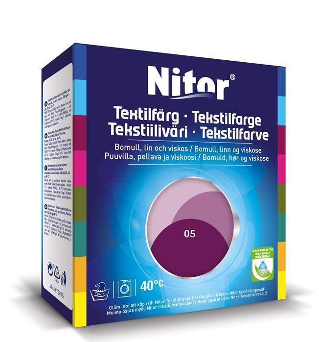 Nitor Textilfärg Mörk Viol 05
