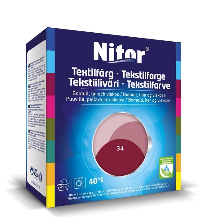 Nitor Textilfärg Bordeaux 34