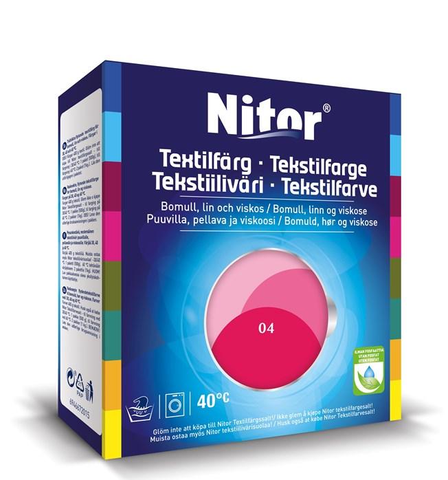 Nitor Textilfärg Fuchsia 04